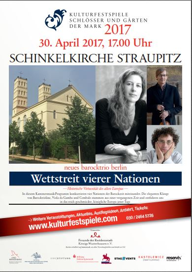 Konjzert mit dem neuen barocktrio Berlin